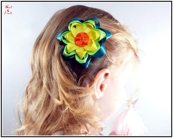 barrette cheveux bebe coiffure fillette barrette fleur etsy. Black Bedroom Furniture Sets. Home Design Ideas