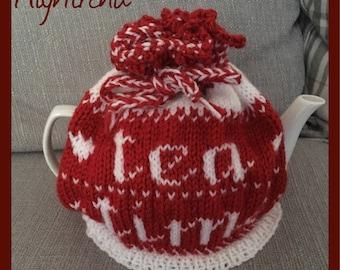 Tea cozy handmade with tea time design