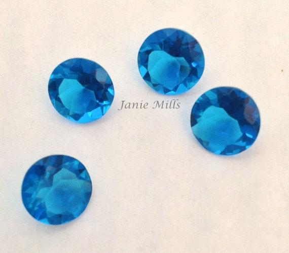 London Blue Topaz Quartz Faceted Round 8 MM Loose Gemstone Wholesale Lot New AA