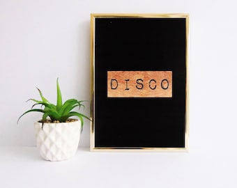 Disco Print, Typography Print, Cool Print, Modern Print, Contemporary Print, Giclee art print