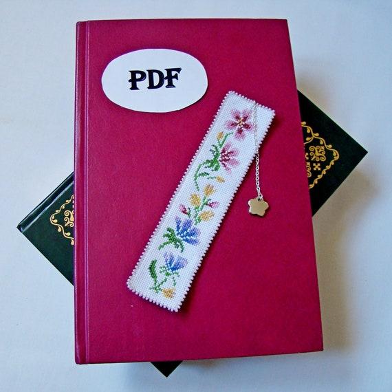 Cross stitch Pattern bookmark, Instant download, DIY bookmark, Pattern for bookmark, Bookmark with flowers, Idea for cross stitch