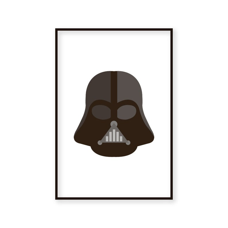 image relating to Darth Vader Printable named Darth Vader Printable Artwork Print - Instantaneous obtain - Printable