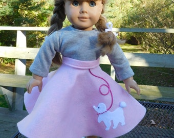 Poodle Skirt for 18 inch Dolls