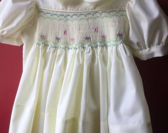 Hand smocked dress size 2