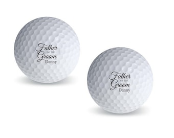 3 pcs Father of the Groom Personalized Golf Balls (MIC-PFGGB46)