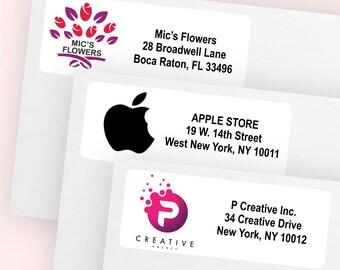 100 pcs Your Logo Return Address Labels (MC16)