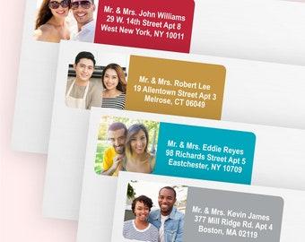 100 pcs Your Photo Return Address Labels (MIC13X)