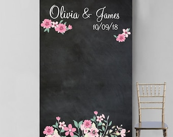 Personalized Love Bloom Photo Booth Backdrop (MICPLBPB47)