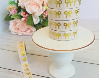 Gold Foiled Bow Washi Tape ~ Planner Decor ~ Scrapbooking ~ Stationery