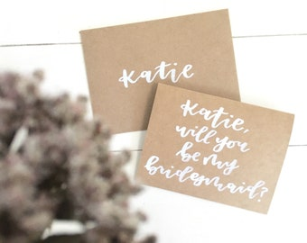 Bridesmaids Proposal Card | Personalized Bridesmaid Card | Will You Be My Bridesmaid?