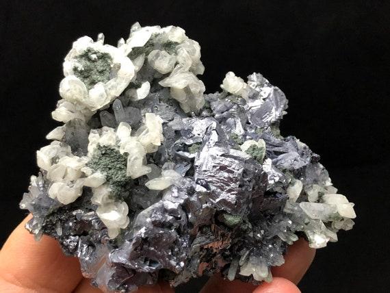 Wonderful Quartz-Galena-Calcite Sphalerite Krushev Dol mine-Madan Bulgaria natural crystal minerals specimen