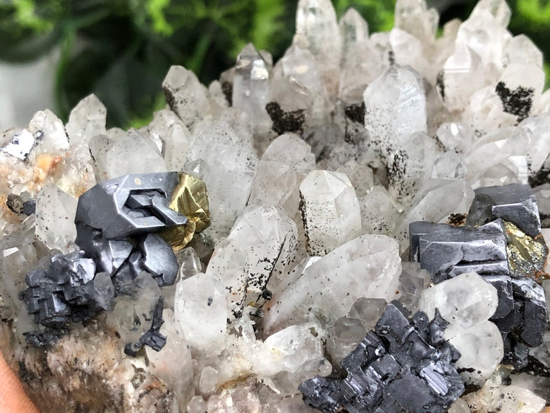 Amazing Quartz-Chalcopyrite Galena Deveti Septemvri mine-Madan Bulgaria