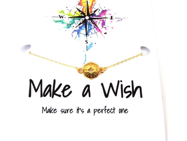 adjustable chain wanderlust bracelet Compass friendship bracelet wanderlust jewelry traveler jewelry gift graduation gift
