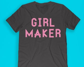 Mom to girls shirt - girl maker shirt - girl mom shirt - mom life shirt - momlife shirt - hashtag mom life - hashtag momlife - momlife vneck