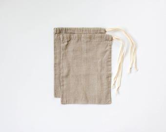 linen bulk bags / tare bag / zero waste