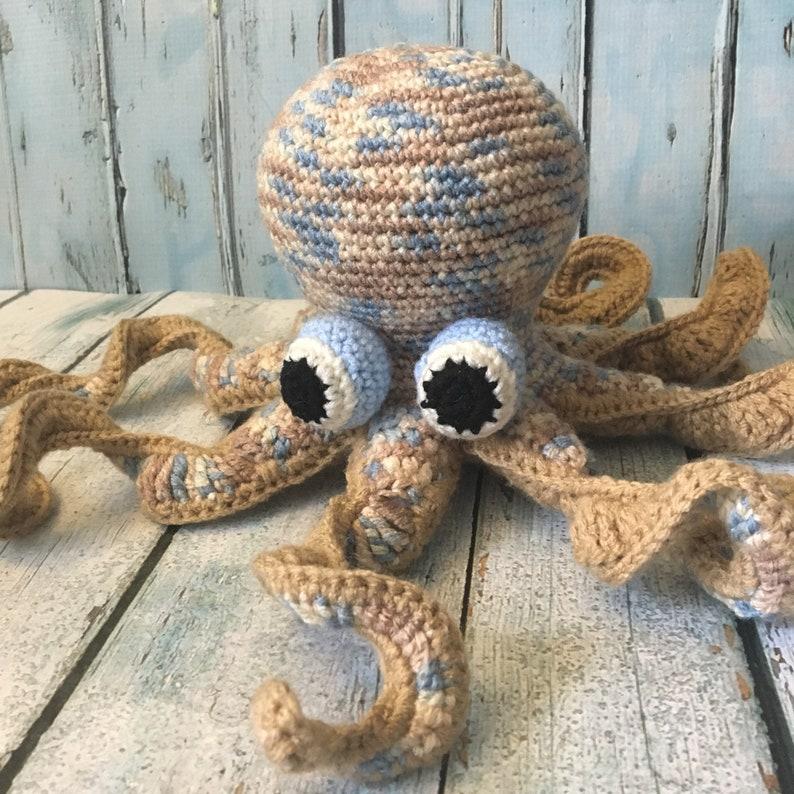 Haak De Octopus Grote Amigurumi Jongen Babydouche Octopus Etsy