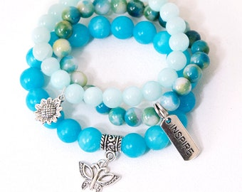 "7.5"" Stretch Bracelet Set 