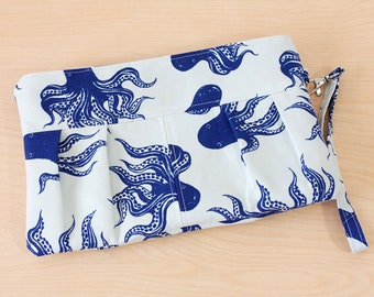 Pleated Octopus Clutch