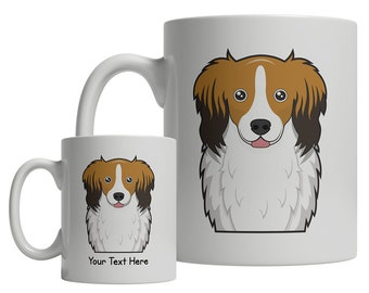Cartoon Pop-Art Coffee Tea Cup 11oz Ceramic Norwegian Lundhunde Dog Mug