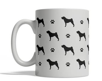 Chinese Shar Pei Dog Silhouettes Coffee Mug, Cup - 11 oz silhouette shape tea