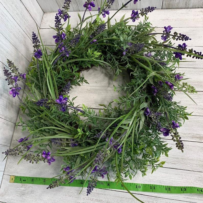lavender wreath centerpiece lavender wreath small small simplistic farmhouse decor summer wreath Mini farmhouse Lavender wreath