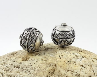 2 pcs of Bali Sterling Silver Spacer  7x6mm