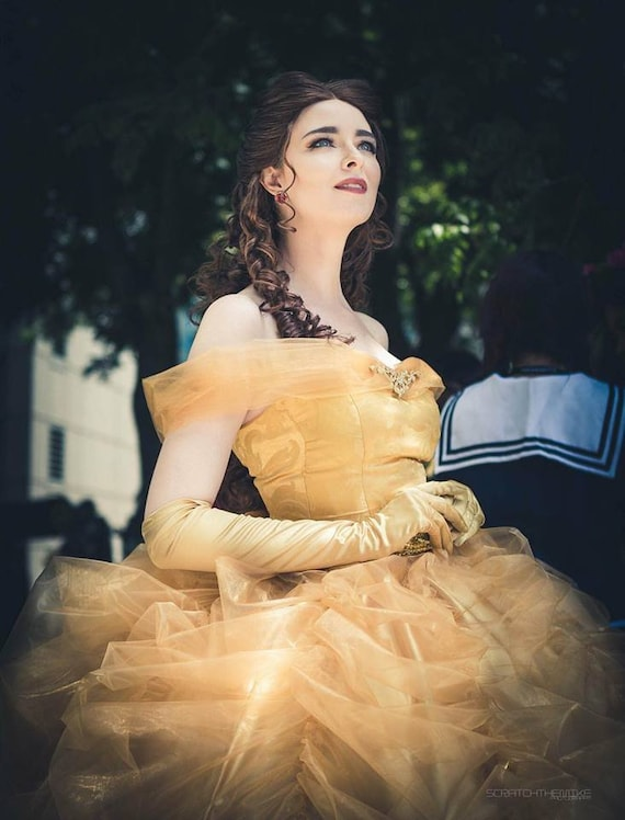 Beauty And The Beast Belle Cosplay Costume Disney Princess Etsy