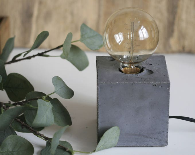 Concrete Cube Table Lamp | Concrete Light | Urban | Industrial