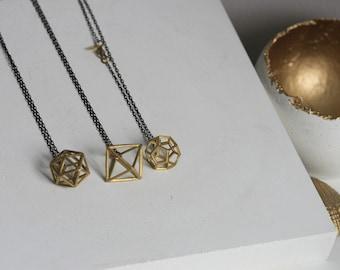 Geometric 3D shape Necklace | Minimalist