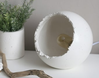 Large Concrete Sphere Table Lamp with Edison Bulb | Urban | Industrial