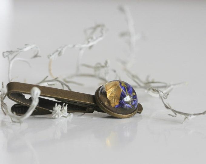 Botanical Tie Clip | Resin Accessories | Wicklow Wildflowers