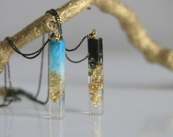 Waves and Shadows Jewellery   Resin Necklace