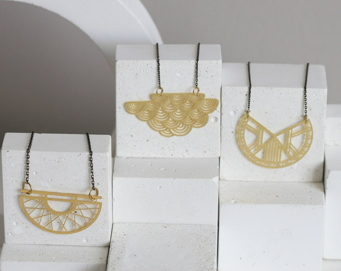 Lasercut Brass Necklace | Geometric