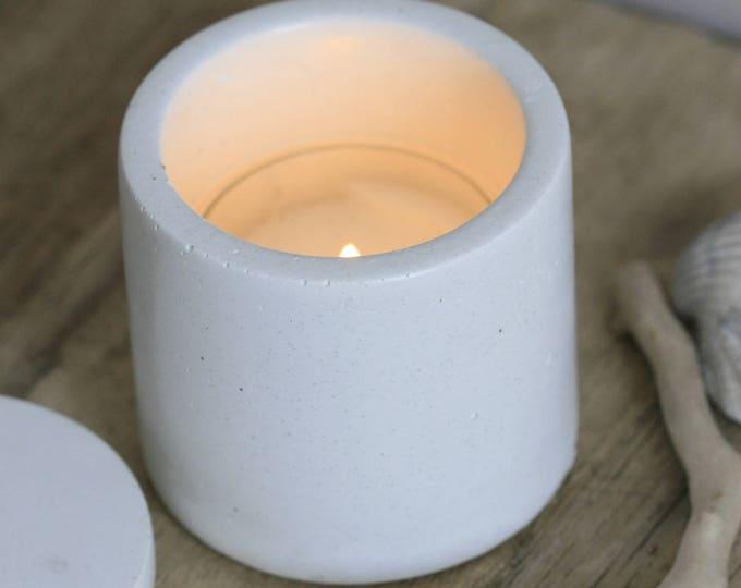 Round Concrete Decorative Container | Planter | Candleholder