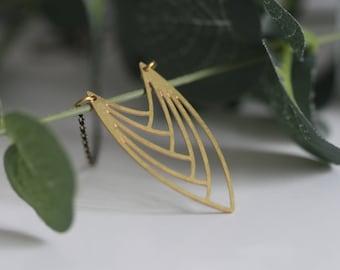 Lasercut Brass Necklace | Geometric