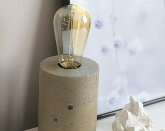 Concrete Cylinder Table Lamp | Concrete Light | Urban | Industrial