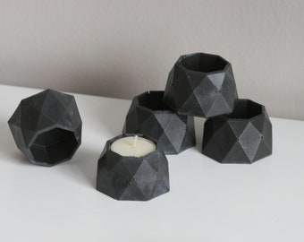 Small Faceted Tealight Holder | Planter