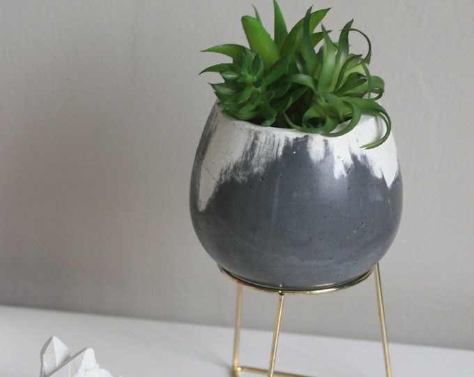 Marbled Concrete Decorative Bowl | Urban | Industrial