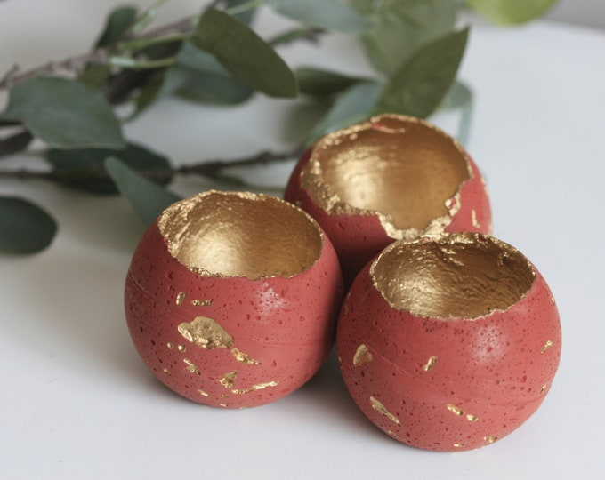 Concrete Sphere Candleholder | Concrete Planter | Display
