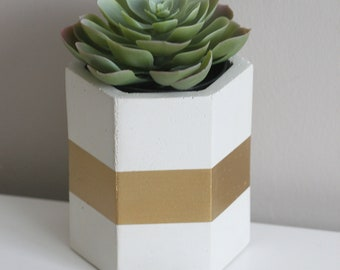 White Concrete Container | Concrete Planter