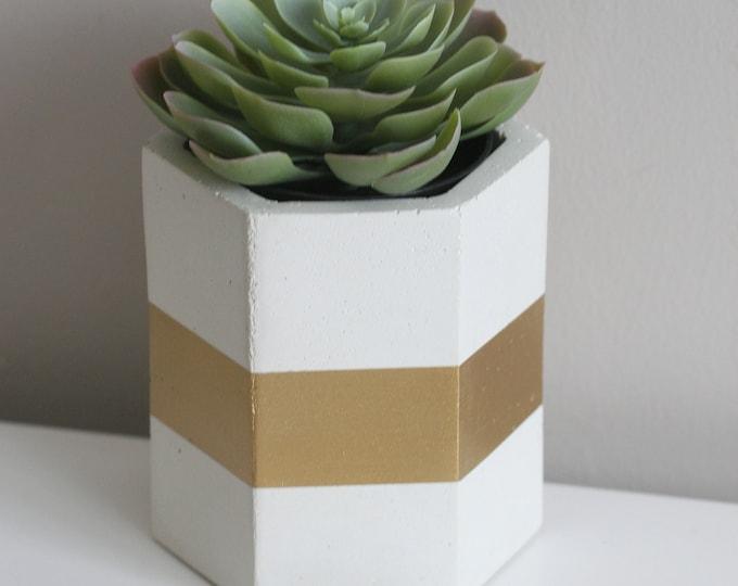 White Concrete Container | Concrete Planter