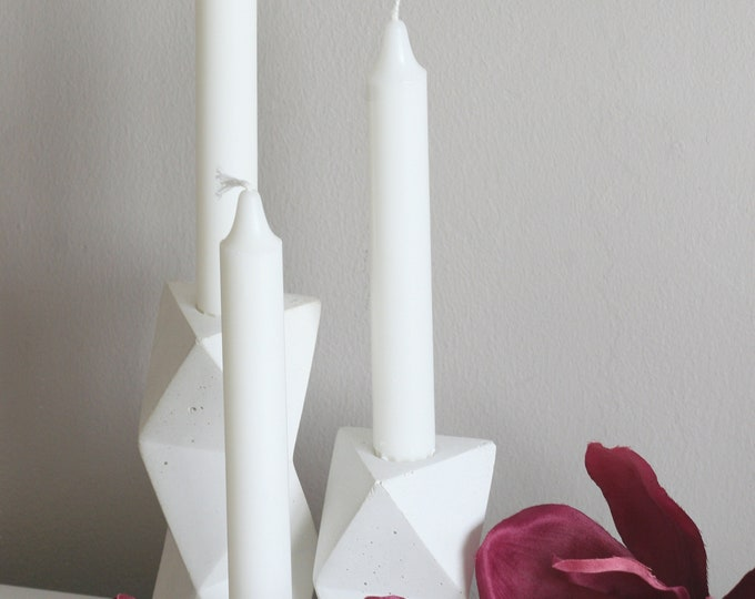 Concrete Tapered Candle Holder | Candleholder| Urban