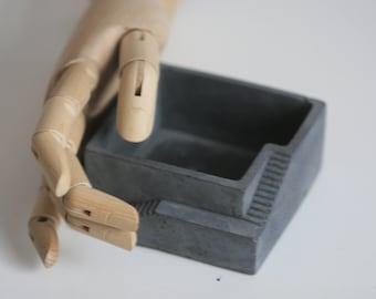 Architectural Concrete Decorative Bowl | Office Storage | Candleholder