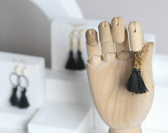 Various Geometric Brass & Tassel Earrings | Minimalist