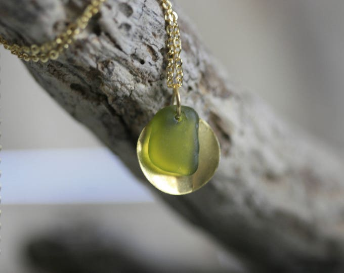 Irish Seaglass Necklace | Seaglass Jewellery  | Jewelry | Green Seaglass | Beachglass