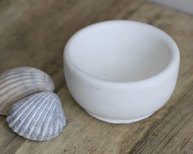 Small Round Concrete Decorative Bowl