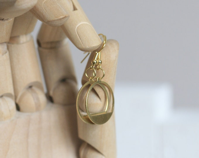 Various Geometric Brass Earrings | Minimalist | Geometric