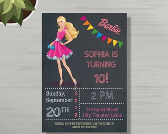 Barbie invitation etsy personalized barbie birthday party invitations birthday invitation barbie birthday party any age barbie invite barbie invitation filmwisefo