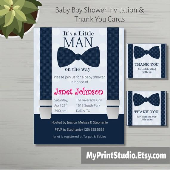 Druckbare Baby Boy Dusche Einladung Vorlage in MS Word