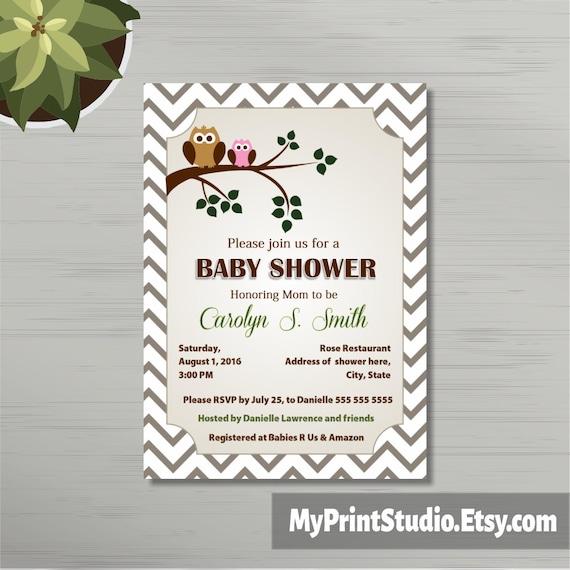 Druckbare Baby-Dusche Einladung Vorlage in MS Word | Etsy